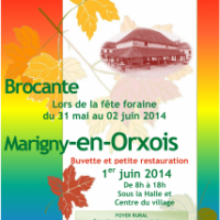le Foyer Rural organise :  Brocante