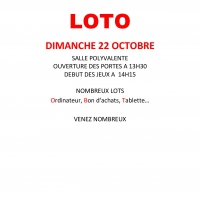 Le Foyer Rural organise : LOTO